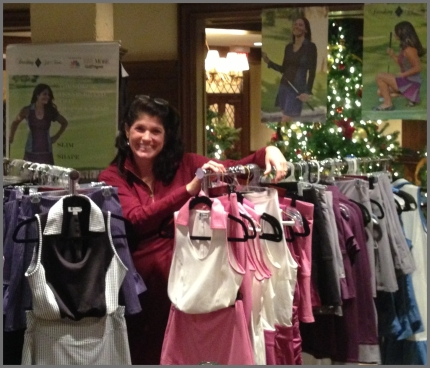 Setting up at the Butterfield CC Holiday Trunk Show in Oak Brook, IL