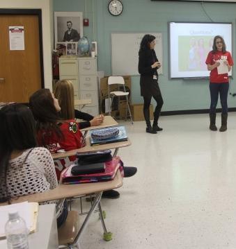 Presenting their Fashion idea.